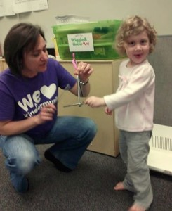 Leah LOVES Mrs. Bruno!